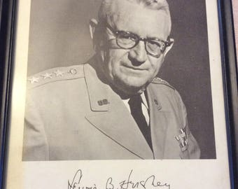 Signed General Hershey 8x10