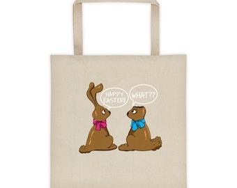 Easter Tote Bag    Funny Easter Bag    Easter basket for boys girls   Easter jokes    Easter Bunny gift  easter basket   bunny basket rabbit