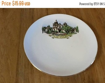 On Sale Mission San Carlos Borromeo in Carmel, California 8.20 inch Collectible Plate Made by Taylor and Kent England Bone Kent China Dish