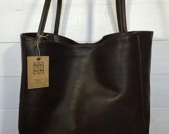 Large shopping bag in cowhide art Martina