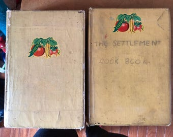 Antique/Vintage 1920 Boston Cooking School Cookbook and The Settlement Cookbook