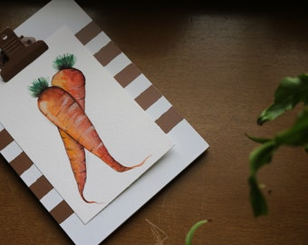 Carrot 4 x 6 watercolor