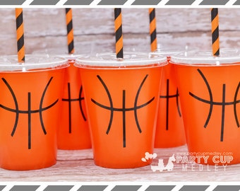 Basketball Birthday Party-Basketball-Party Cups