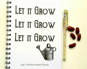 Personalised Vegetable Garden Planner, organise your kitchen garden, allotment. Perfect gardeners gift.
