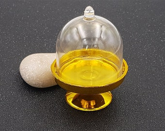Base cake stand gold transparent Bell