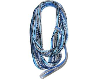 Infinity Scarf, Womens Gift, Gift for Men, Wife Gift, Mens Gift, Mens Necklace, Blue Scarf, Infinity Scarf, Boyfriend Gift, Boyfriend