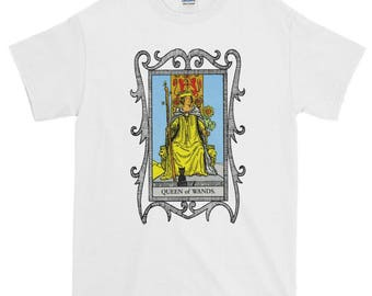 Queen of Wands Tarot Card Adult, Plus to 6X, Youth, Womens, T-shirt, Sweatshirt, Long Sleeve or Hoodie