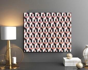 Abstract Geometrical Art, Optical Illusion Art, Abstract Art, MC Escher Inspired