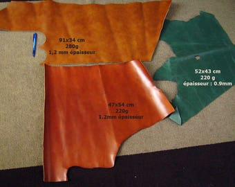 LEATHER scraps - set of 720g