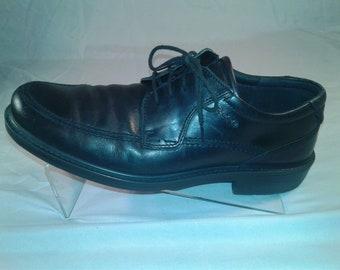 ECCO Men's Windsor Black Leather Lace Up Oxford Size 10 M UK 44