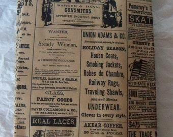 25 Vintage Newsprint Newspaper Brown Paper Kraft Bags.