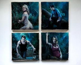 True Blood Stone Coasters - Set of 4, 6, 8, or 10-Sookie Stackhouse Eric Northman Bill Compton Sam Merlotte Pam Lafayette Tara Jason Jessica