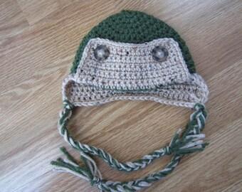 3-6 Month Crochet Eskimo Hat- Ready to Ship