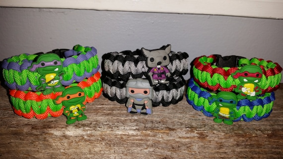 1 - TMNT Teenage Mutant Ninja Turtles 550 paracord survival bracelet shoelace charm