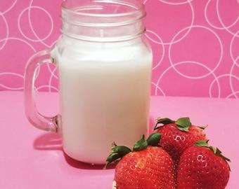 Organic soy wax fruit candle