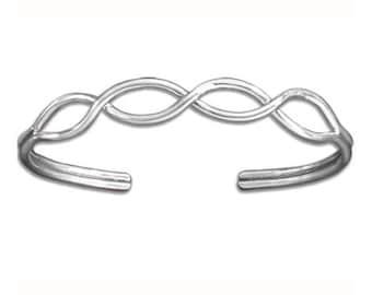Sterling Silver Crossing Paths Cuff Bracelet