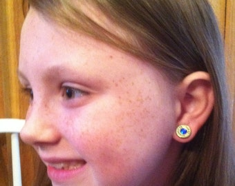 Bullet Earrings - Shotgun shell earrings - Remington Earrings - Bullet Earrings with Swarovski Crystals - Spent Gun Shell Jewelry -
