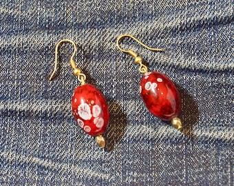 Boho Earrings Cherry Delights