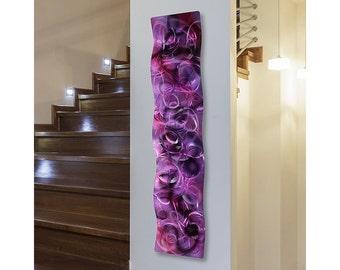 Purple Wave Accent - Abstract Metal Wall Sculpture - Modern Metal Art - Contemporary Wave - Purple Majesty by Jon Allen