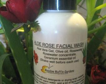 Facial Wash, Cleansing Oil, Aloe Vera Rosewater Soapfree Wash, Makeup remover, Serum, Sensitive Skin