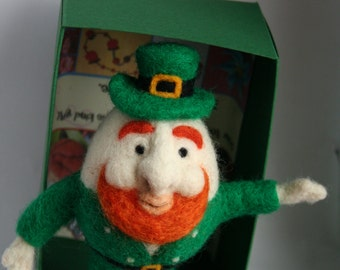 THE LEPRECHAUN - Needle Felted Egg People - Made by order