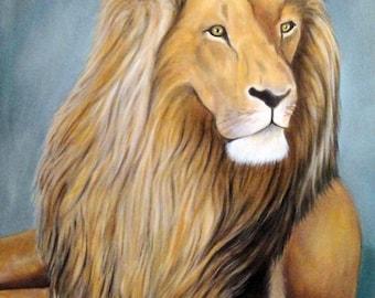ZIMBA oil on canvas painting animal