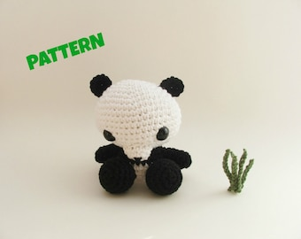 Amigurumi Panda Pattern, Crochet Panda Pattern, Crochet Doll Pattern, Amigurumi Pattern, Crochet Animal Pattern, Amigurumi Animal Pattern