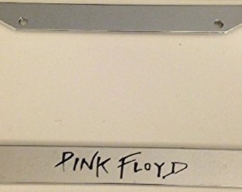 Pink Floyd  - Chrome Automotive License Plate Frame - I love Rock and Roll