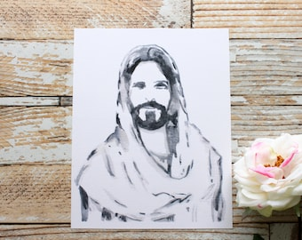 PRINTABLE Watercolor Christ Portrait// Christ Portrait// Christ Painting// Jesus Christ Painting// Christ Print