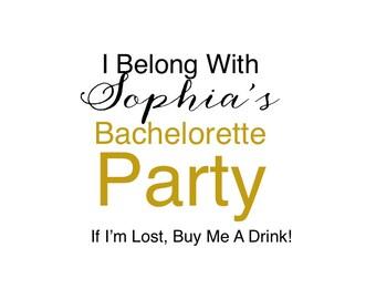 Bachelorette Tattoos - Bachelorette Favor - Bachelorette Party - Bachelorette Party Favors - bridesmaid gift - Bachelorette temporary tattoo