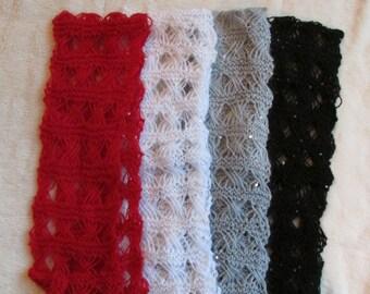 Knit fashion lacy scarves