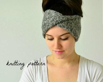 PATTERN: Knit Turban Headband Pattern, The Delaney, Knitted Headband Pattern, PDF File
