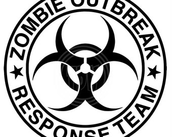 Digital Download Zombie Outbreak Response Team SVG DXF EPS Silhouette Studio Cricut Design Space