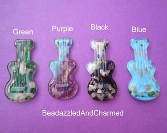 Ukulele Ukelele  Guitar Glass Murano Pendant- Your Color Choice!