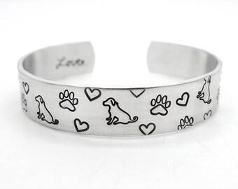 pet mom, Dog Jewelry, dog mom bracelet, dog paw, heart bracelet, inspiration, dog lover gift, puppy paw, personalized bracelet, dog name