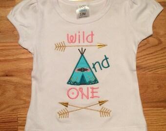 Wild and One Birthday Shirt