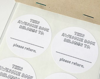 """Book Plates (2"""" rounded stickers)"""