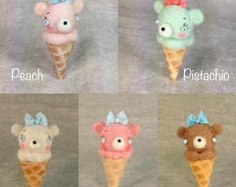 Ice Cream Cone Teddy Bear MADE TO ORDER