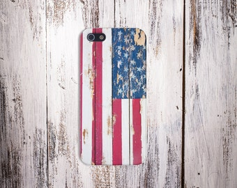 Chipped American Flag July 4 Case,iPhone X, iPhone X Plus, Protective iPhone Case, Galaxy s9, Samsung Galaxy Case, CASE ESCAPE, 4th July