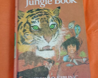 The Jungle Book by Rudyard Kipling, Vintage Hardback Children's Book