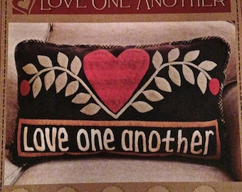 Pattern: Love One Another Pillow Pattern by Timeless Traditions by Norma Whaley