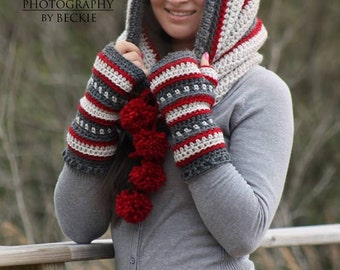 Dylan Hooded Cowl (Scoodie) Crochet PATTERN pdf (Instant Download)