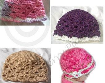 PDF Crochet Hat Pattern - Zefenella Hat