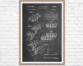 Lego Patent, Lego Poster, Lego Art, Lego Poster, Kids Room Wall Decor, Boys Room Art, Toy Patent, Kids Art