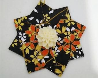 Paper earrings, handmade earrings, origami earrings, pendant earrings