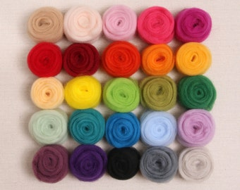 Wool Roving  // Corriedale Sliver // Needle Felting, Wet Felting, New Zealand Roving, Raw Wool, Carded Wool, Sliver, Weaving Supplies