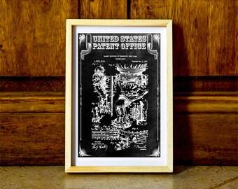Houdini Diving Suit Patent, Patent Print, Wall Decor, Diver Gift, Scuba Gift, Scuba Diver, Deep Sea Diver, Nautical Decor, Beach House Decor