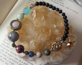 Solar System Bracelet, Space Bracelet, Galaxy Bracelet, Planet Bracelet, Celestial Bracelet, Space Jewelry, Science Jewelry, Gifts for Geeks