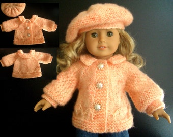 BEGINNER level Knitting pattern for American Girl 18 inch doll with VIDEO clips (33)