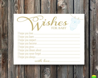 Baby Shower Card Printable ~ Printable wishes for baby card printable baby shower